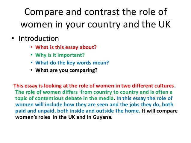compare contrast two cultures essay Name: course: lecturer: date: compare and contrast essay between vietnam and america america and vietnam are two distinctive countries with many differences.