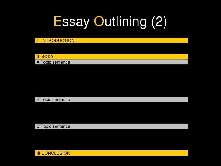 essay writing structure  e ssay o utlining 2
