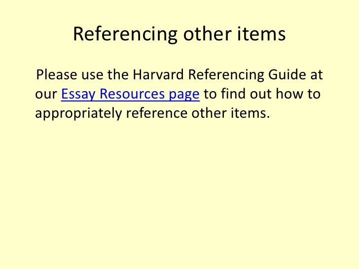 essay style guide referencing