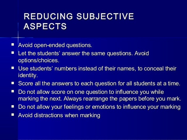 reliability and validity of essay questions