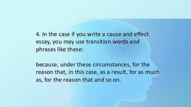 transition words effect essay