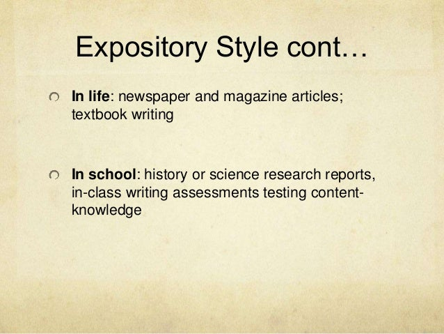 expository essay point of view Then they are asked to identify point of view in various sentences point of view in expository person point of view pronouns to third in a short essay.