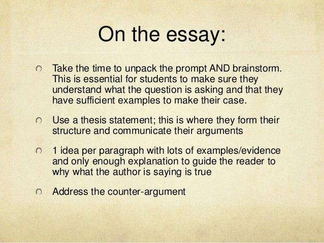 four elements of an argument essay A good introduction has four key elements it provides a context to your discussion, primarily by articulating the question that the essay is designed to answer it presents your thesis - ie the arguments you will be making it clearly sets out the parameters of your discussion finally, it offers a brief outline of the.