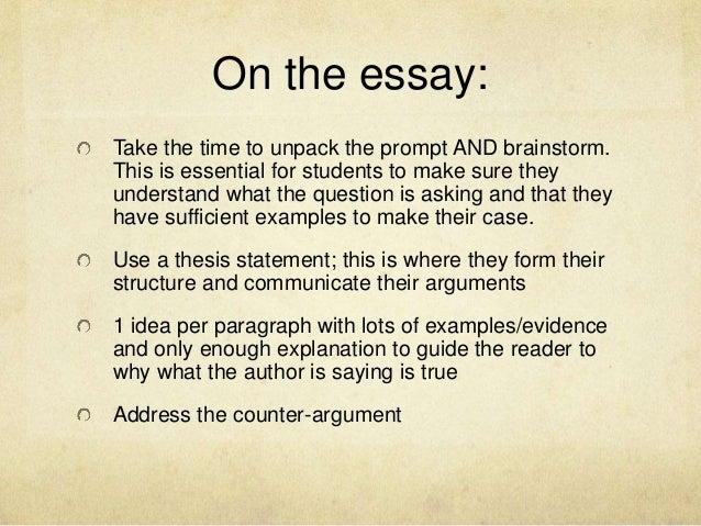 Organising a discursive essay