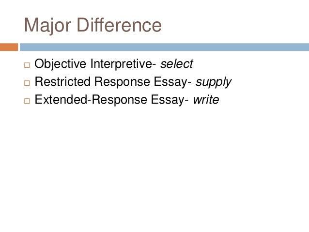 Interpretive response essay