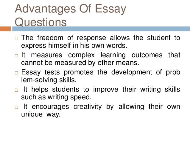 essay restricted type questions Extended-response or essay questions take care and thought, but they are  nothing to fear in fact, the more you show what you know about a topic, the more .