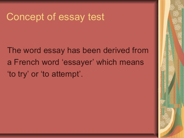 Definition of Types of Essay