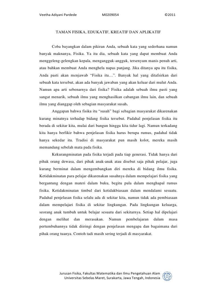 Veetha Adiyani Pardede                 M0209054                                ©2011           TAMAN FISIKA, EDUKATIF, KRE...
