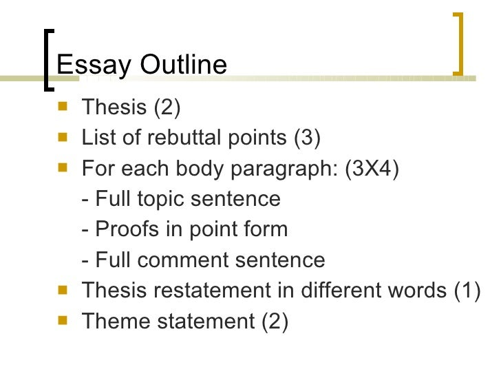 essay writing essay outline