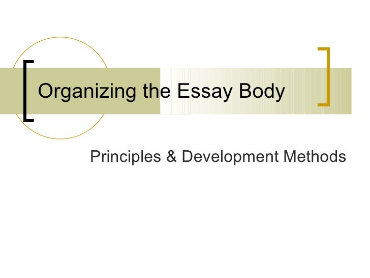 methods of essay development Patterns of development in writing when beginning to write, it is helpful to determine the patterns of development that are most effective for your purpose and audience some general patterns of development are.