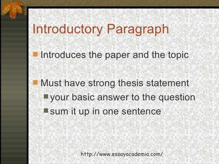basics of essay writing