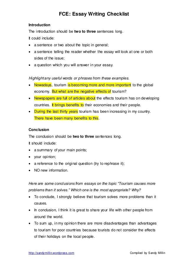 Tourism essay topic ideas