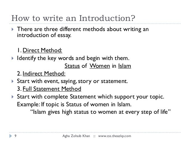 essay on place of women in islam Does islam oppress women does islam oppress women  articles, essays, and lectures  muslim women are victims of cultural aberrations that have no place in .