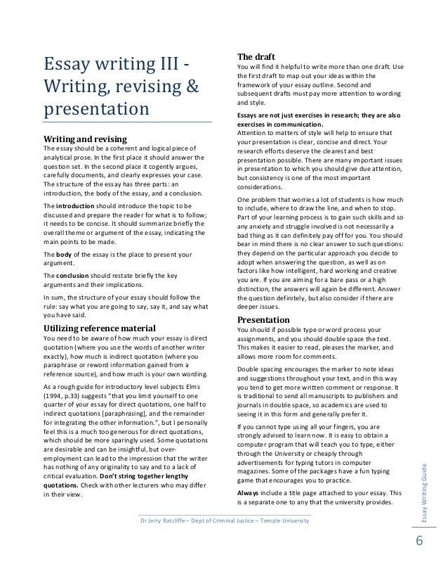 essaywriting writing and revising the essay