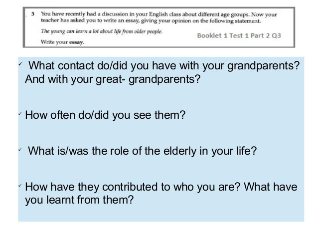 Grandparents Essay
