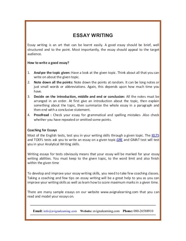 essay writing essay writing essay writing is an art that can be learnt easily a good essay