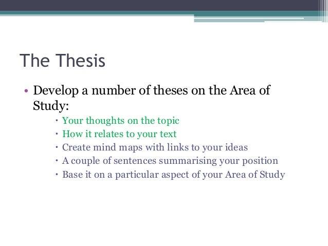 Area of study essay