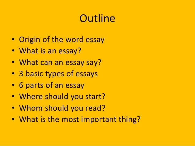 origin of essay writing