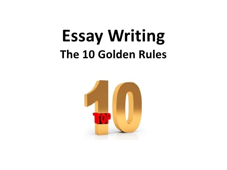 Rules for writing an essay in english