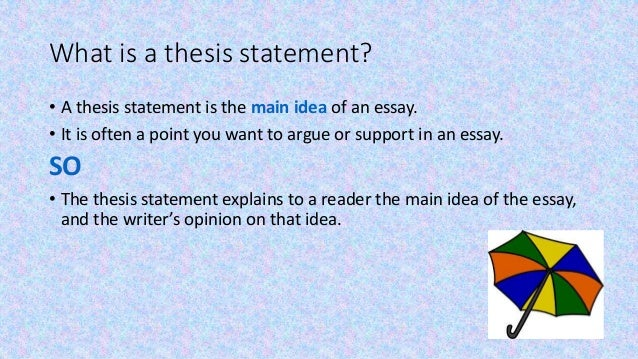 practice writing thesis statements