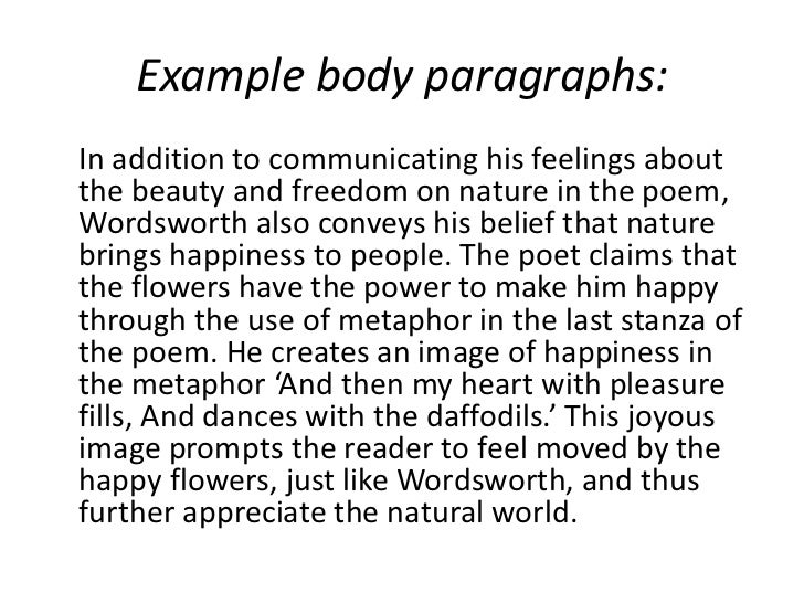 Essays on william wordsworth and nature