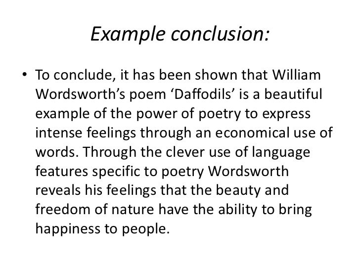 conclusion for an essay example
