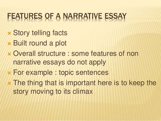 narrative or story essay definition