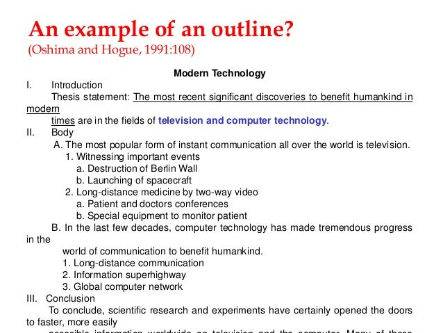 Essay outline on technology