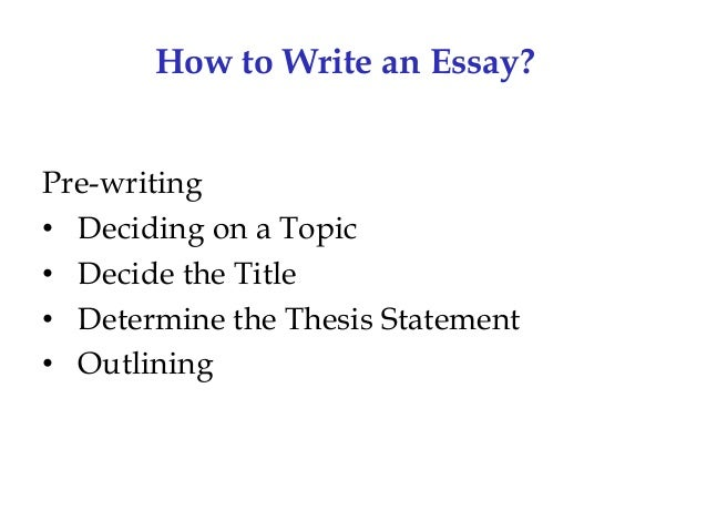 essay an overview