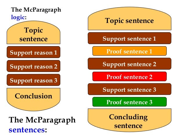 how to write supporting sentences in a paragraph