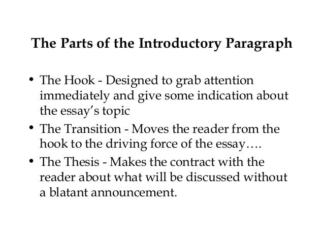 essay parts of an introduction