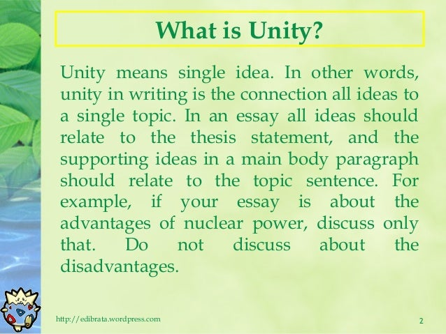 essay writing th  2 keeping unity in an essay