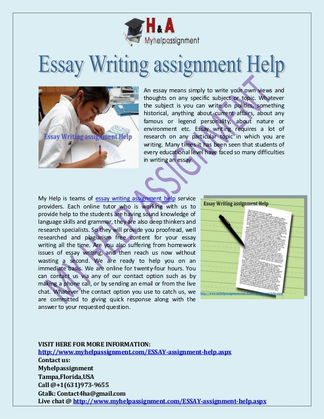 Essay writing assignment help college term paper