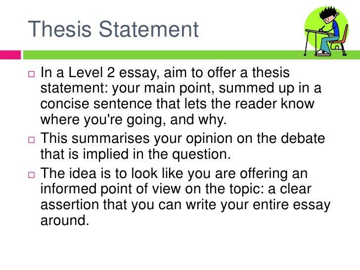 Essay writing at level 2
