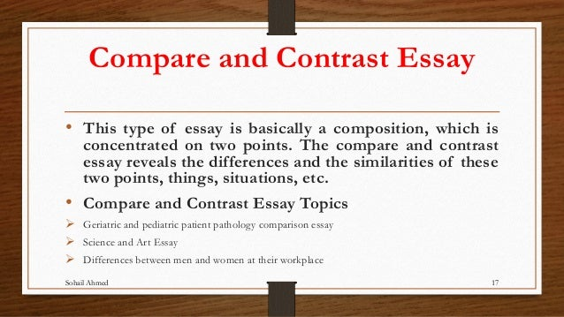 compare and contrast essay on two works of art To write a compare/contrast essay (both art forms organizing your compare and contrast paper there are two primary ways to organize your compare and.