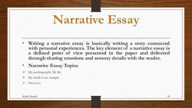 Narrative Essay Writers
