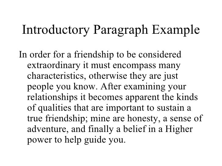 Friend ship essay