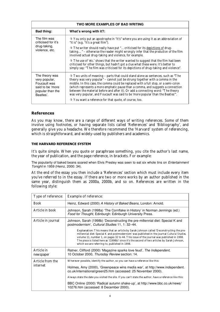 Essay writing - Planning the essay
