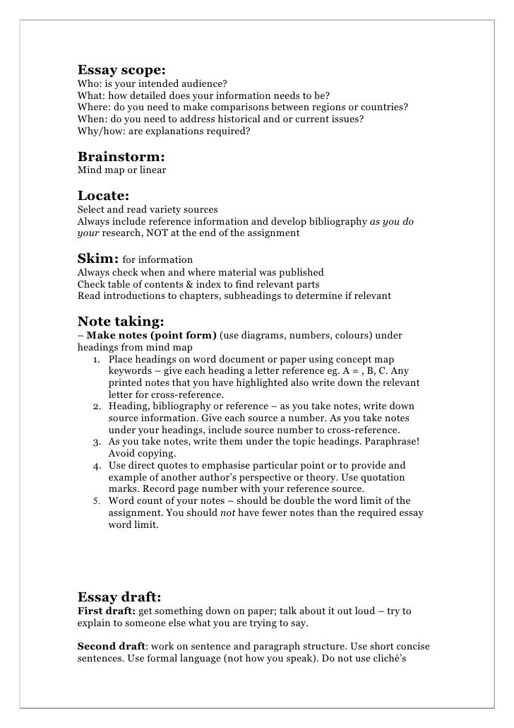how to write an essay with subheadings