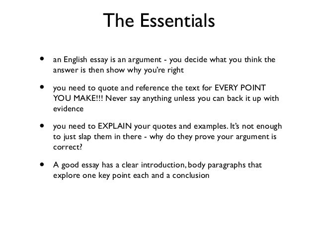 essay writing lessons 2 the essentials • an english essay