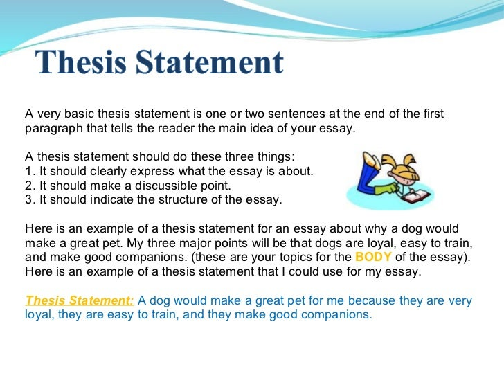 two main parts of thesis statement Parts of a thesis statement the thesis statement has 3 main parts: the limited subject, the precise opinion, and the blueprint of reasons limited subject.