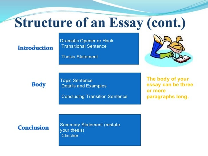 Essay Writing Powerpoint   Dramatic Opener Or Hook Transitional Sentence Thesis Statement