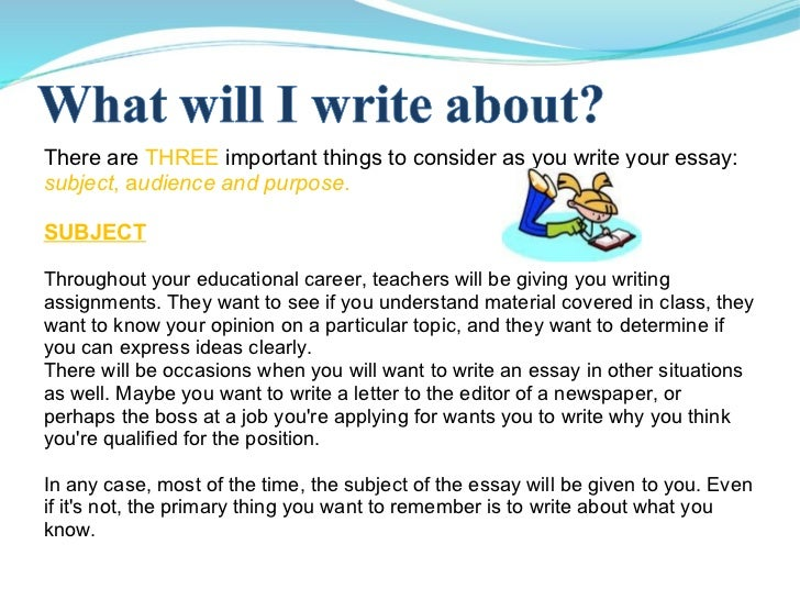 what to write an essay about