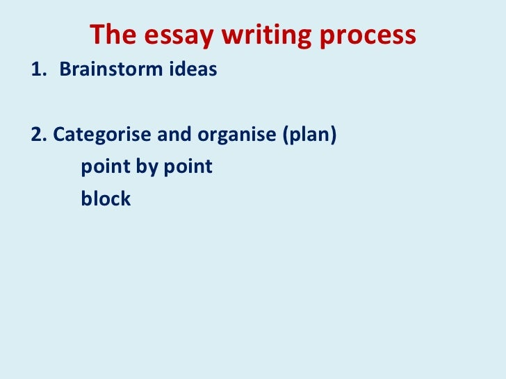 essay writing process 2 the essay writing process