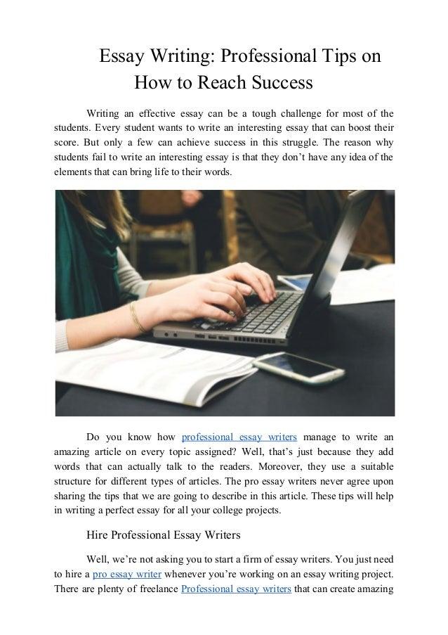 Essay writing professionals