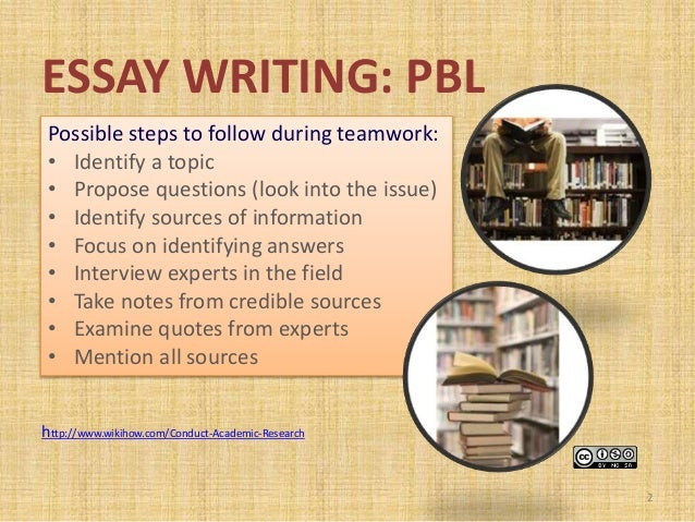 project based learning essays While these questions are pressing in any teaching situation, the emphasis on  more open-ended learning experiences and collaborative learning found in pbl .