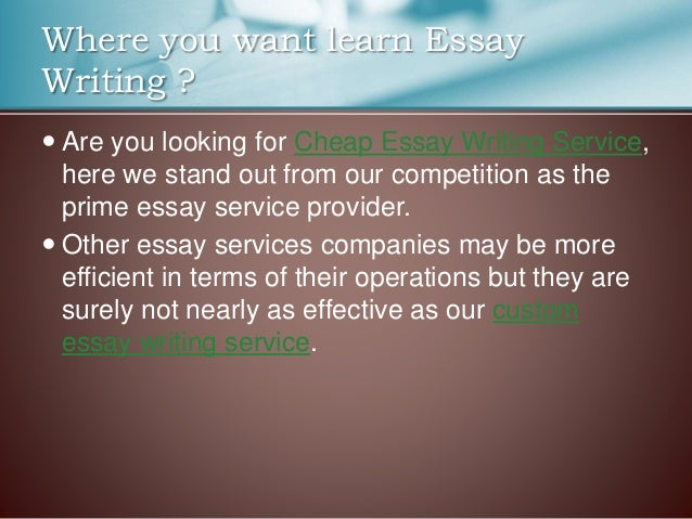 Essay writing services uk