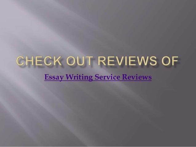 Essay writing service reviews