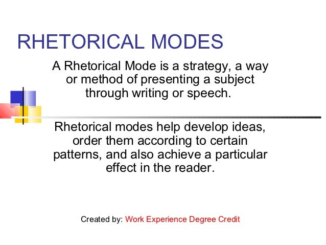 essay writing techniques essay writing techniques rhetorical modes a rhetorical mode is a strategy a way or method of presenting a