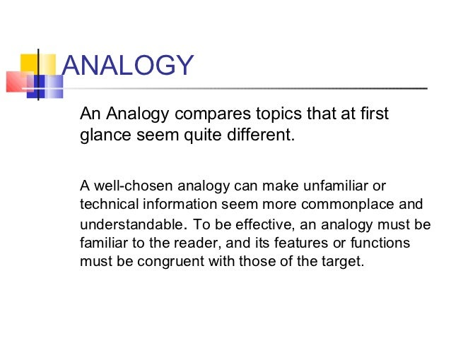 essay writing techniques 11 analogyan analogy compares topics